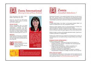 Informationsbrochure.